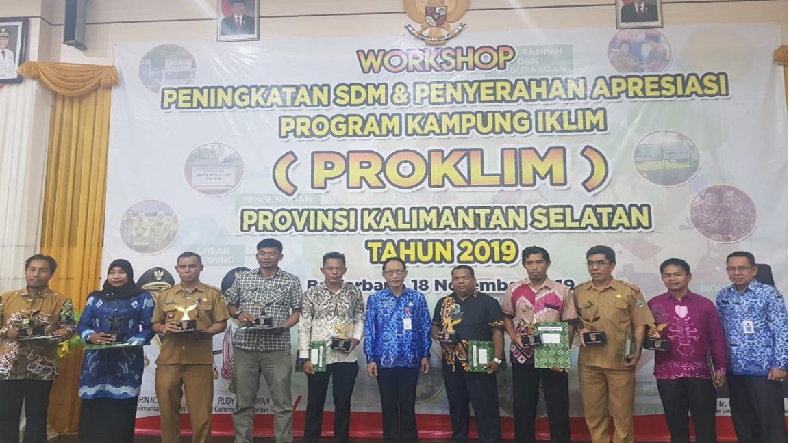 Desa Binaan PT PAMA ARIA Dapat Penghargaan Proklim dari Dinas LH Propinsi Kalsel